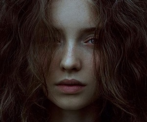 freckles, natural, and woman image