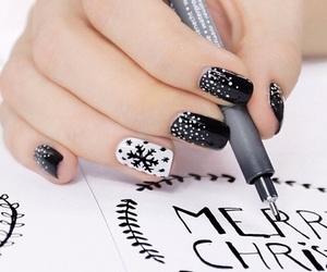 black, december, and holidays image