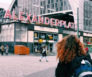 alexanderplatz, backpack, and berlin image