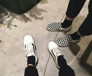 vans, black, and grunge image