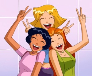 cartoon, totally spies, and girls image
