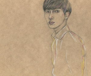 art, asian boy, and colored image