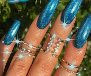 nail art, nails, and blue image