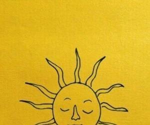 yellow, aesthetic, and sun image