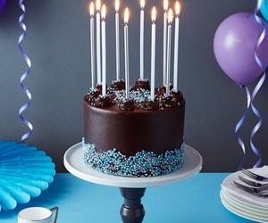 birthday cake, cake, and chocolate image