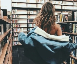 aesthetic, books, and girl image