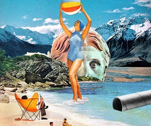 beach and Collage image
