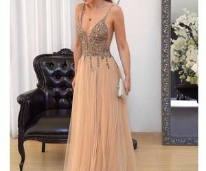sleeveless prom dress and evening dresses long image