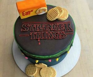 stranger things, cake, and eleven image