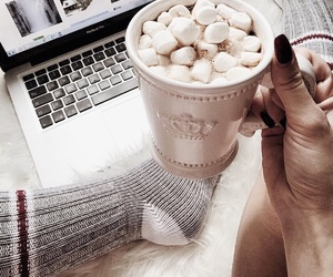 cozy, hot ​chocolate, and christmas image