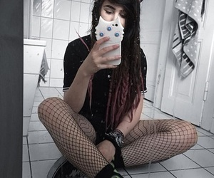 alternative, beautiful, and dreads image