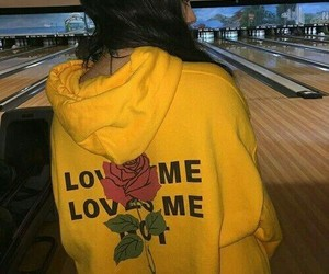 yellow, rose, and tumblr image