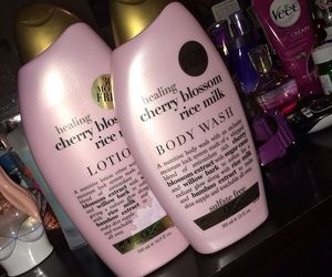 lotion, bodywash, and cherry+blossom image