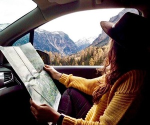 autumn, Road Trip, and travel image