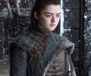 arya stark, game of thrones, and maisie williams image