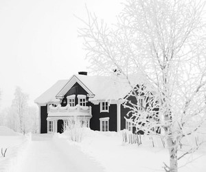 house, snow, and white image