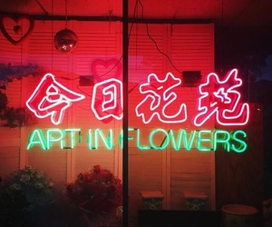 flowers, glow, and neon image