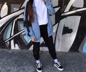 fashion inspiration, layers, and vans image