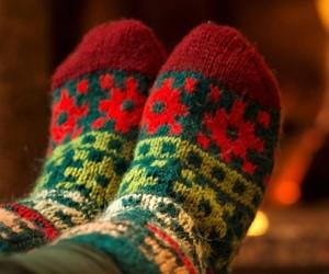 christmas, socks, and cozy image
