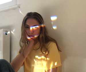 girl, rainbow, and alternative image
