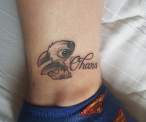 black and white, stitch, and tattoo image