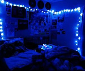 blue, aesthetic, and lights image
