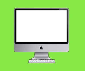 apple, computer, and mask image