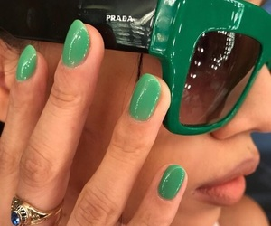 fashion, nails, and green image