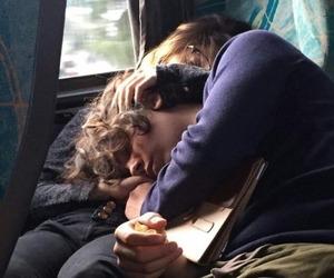 couple, love, and sleeping image