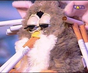 furby and cigarette image