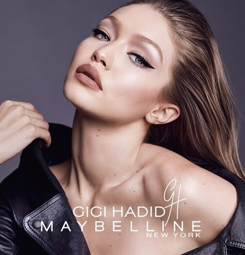 gigi hadid, model, and Maybelline image