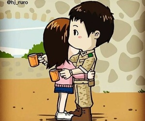 couple, love, and descendants of the sun image