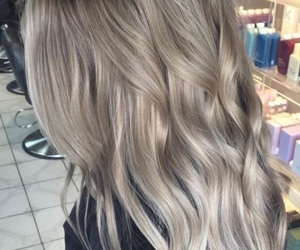 blond, girl, and waves image