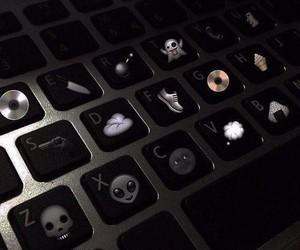 black, keyboard, and grunge image
