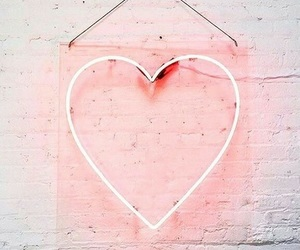 heart, pink, and light image