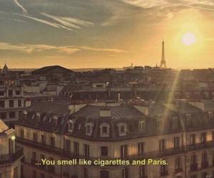 quotes, paris, and cigarettes image
