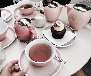 food, tea, and pink image