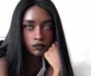 eyes, black, and beauty image