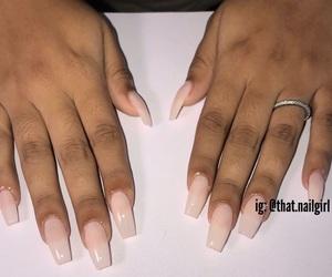 acrylic, nails, and acrylic nails image