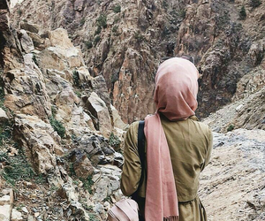 hijab, fashion, and mountains image