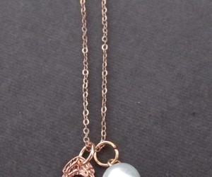gift, christmas gift, and rose gold necklace image