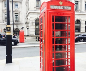city, london, and telephone image