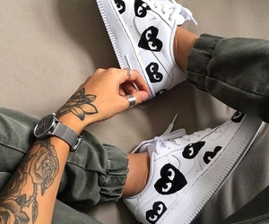 rings, sneakers, and Tattoos image