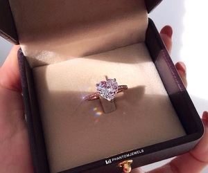 diamond, heart, and ring image