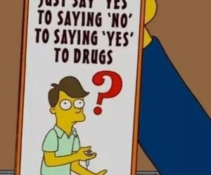 drugs, funny, and simpsons image