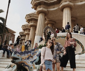 Barcelona, friend, and girl image