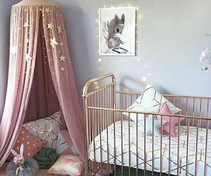 pink, room, and interior image