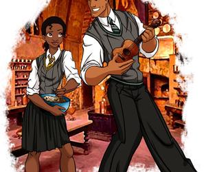 disney, tiana, and hogwarts image
