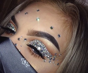 makeup, aesthetic, and glam image