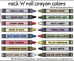 classic rock, crayons, and funny image